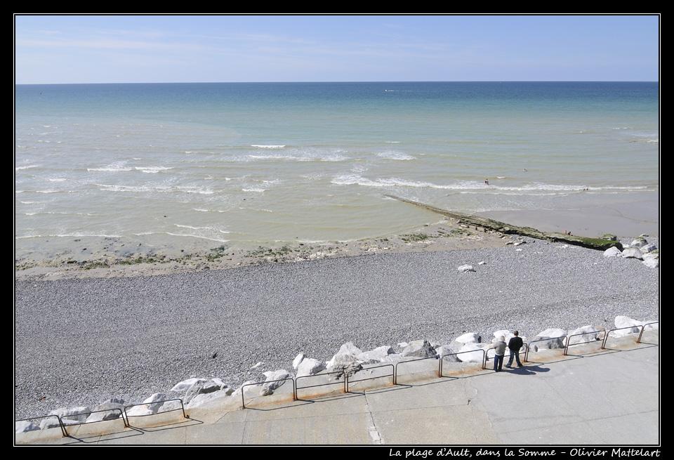 Ault : plage de galets