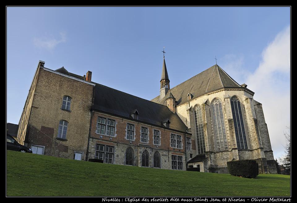 Nivelles : l'église des récollets dite aussi Saints Jean et Nicolas