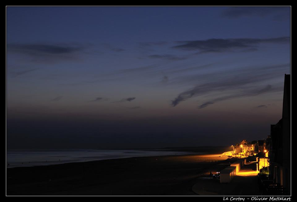 Le Crotoy : plage de nuit