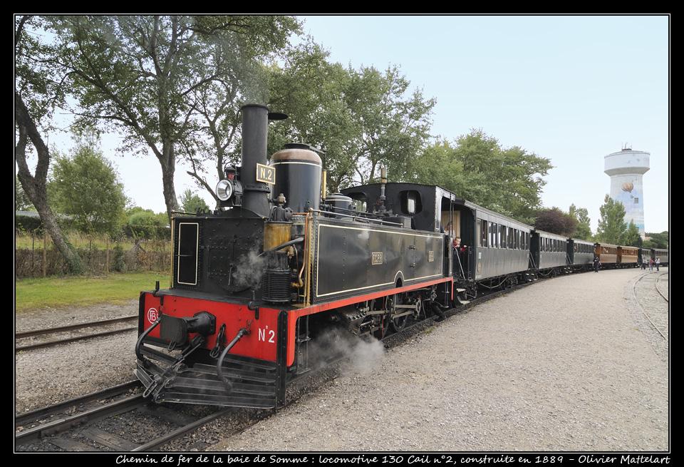 Le Crotoy : la locomotive Cail du chemin de fer de la baie de Somme